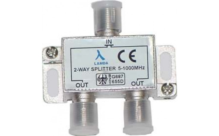 ClearView 2 Way F connector splitter 5-1000MHz
