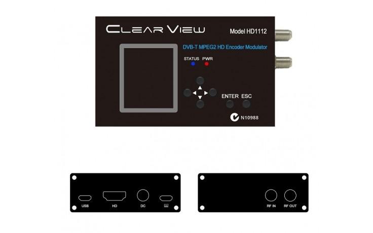 ClearView HD1112 MPEG2 Single HD DVBT Modulator