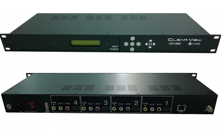 ClearView HD168Bi Low Cost Quad SD/HD MPEG4 DVBT Modulator