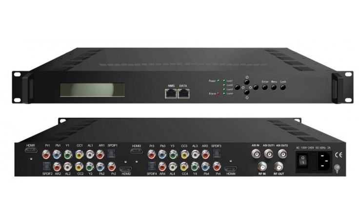 ClearView HD4102 Quad HD Mpeg2/4 Modulator