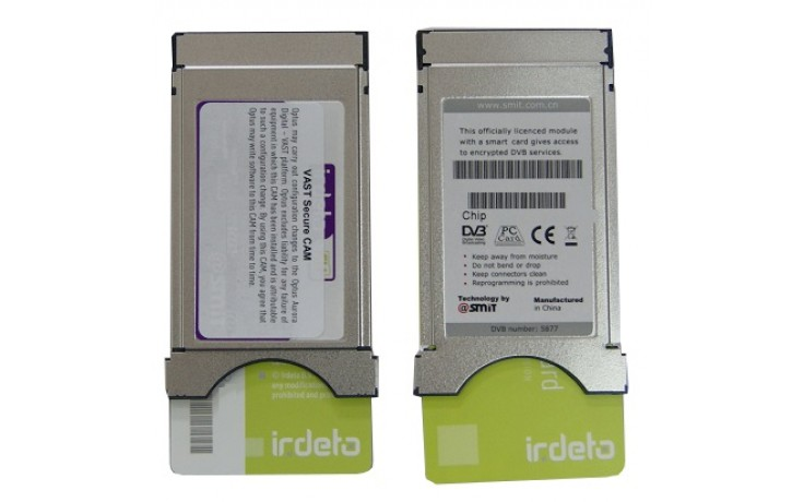 SMIT 8 Service VAST Irdeto Smartcard and CI cam