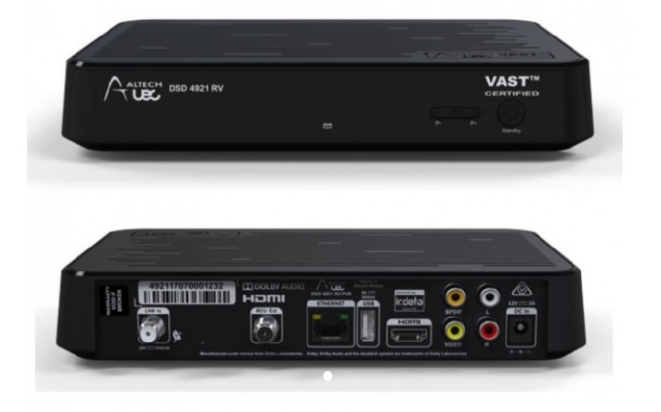 UEC DSD4921RV   VAST™ Certified Twin Tuner Set Top Box