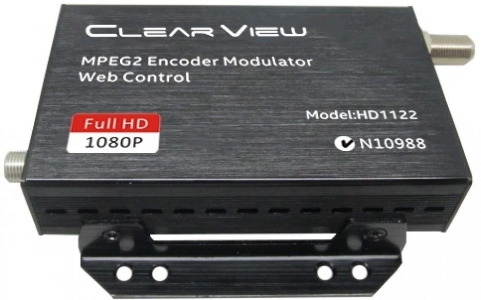 ClearView HD1122 MPEG2 Single HD DVBT Modulator Web GUI Control