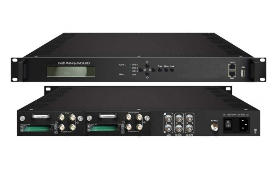ClearView KR3542D  Multi-input  DVBS2 to DVBT Transmodulator