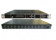 HD244-16  16 x HDMI Input, HD MPEG4 modulator with 8 x DVBT carriers out, and IP in and out.