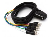 SatKing Scart to 6 RCA 1.2m lead