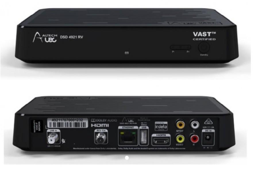 UEC DSD4921RV   VAST™ Certified Twin Tuner Set Top Box