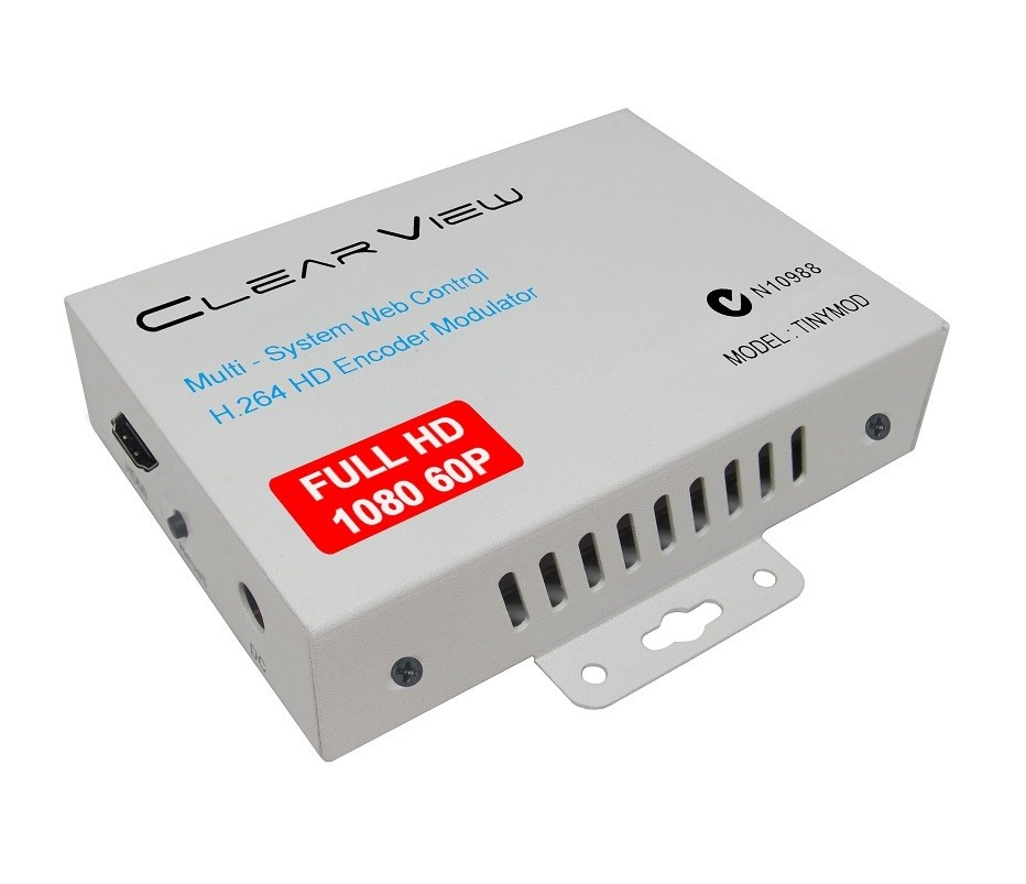 ClearView TINYMOD Multi-System MPEG4 HD Digital Modulator 22MB/sec, 1080 60p